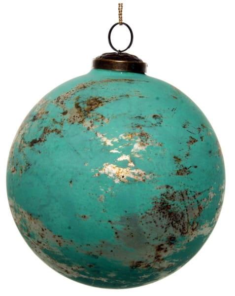 ShiShi GLASKUGEL, grün patiniert 13cm