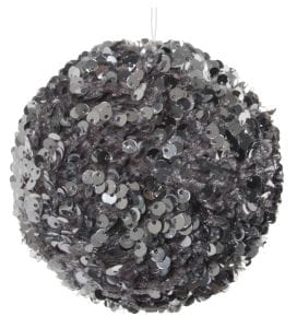 ShiShi Pailletten-Samt Ball, silber 10cm