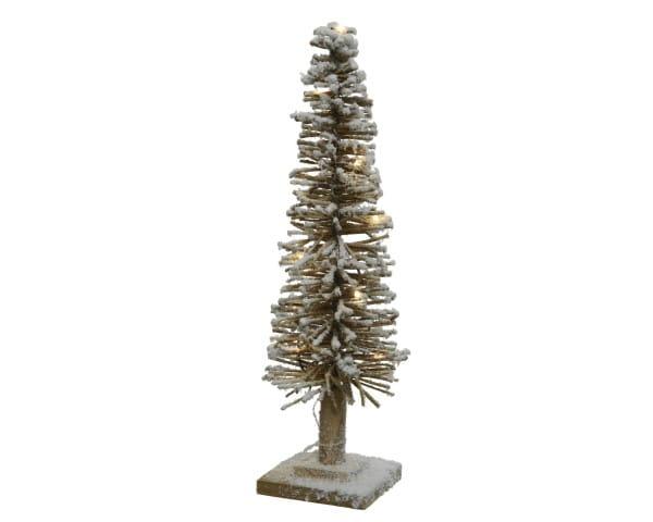 Weihnachten Kae LED BAUM beschneit, 15x15 H50, 15L warmweis