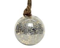 Weihnachten Kae Micro LED Kugel/Seil Bat, dia14cm-30L warmes weiss