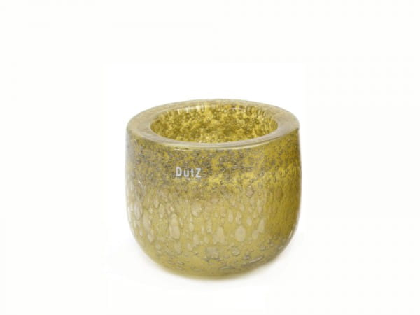 DutZ Schale THICK GLASS, mustard bubbles
