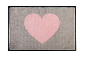 Fußmatte Herz rosa / beige 75x50cm