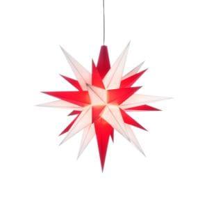 Herrnhuter LED Stern A1e - ca. 13cm / Kunststoff - weiß/rot