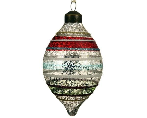 Weihnachten Kae GLAS-OLIVE ANTIK, D6,5 H10 bunt
