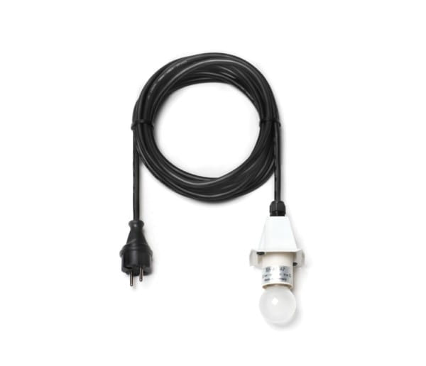 Herrnhuter LED Kabel schwarz für A4/A7 - 5m, Deckel weiß