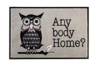 Fußmatte beige Eule 'Any Body Home' 75x50cm