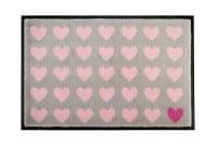 Fußmatte grau Herzen 75x50cm